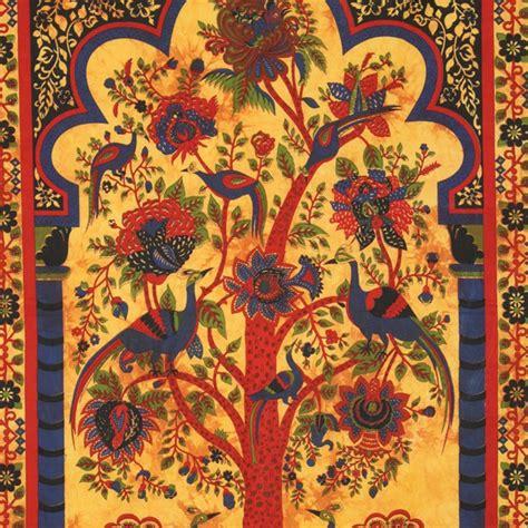 tenture murale arbre de vie tenture indienne quot arbre de vie quot jaune sur artiglobe