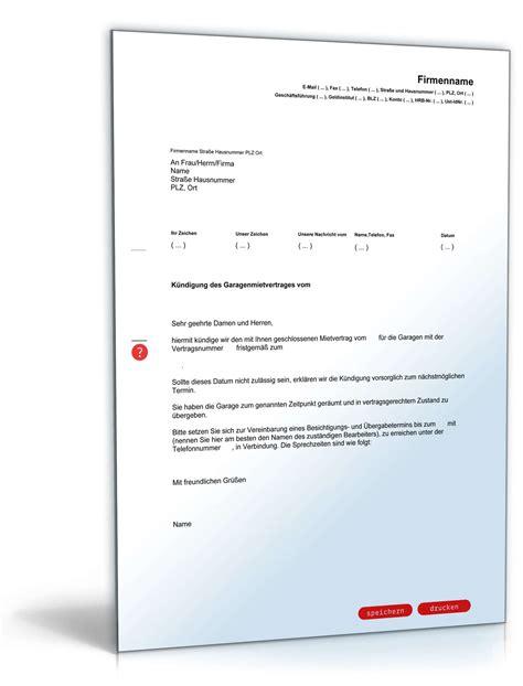 Vermietung Garage Steuer by Fristgem 228 223 E K 252 Ndigung Garagenmietvertrag Durch Vermieter