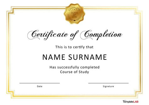 free courses with certificates 40 fantastic certificate of completion templates word