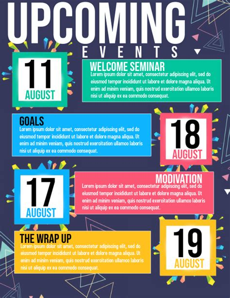 upcoming events Template | PosterMyWall
