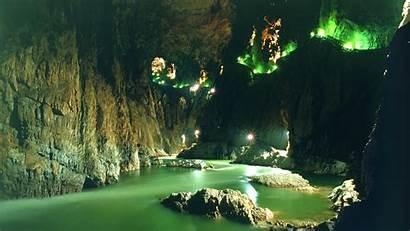 Cave Desktop River Nature Caves Wallpapers Backgrounds