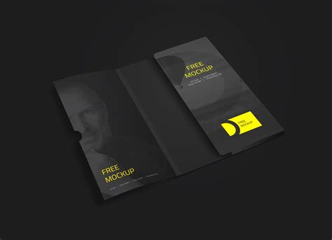 Folder With Business Card Mockup Debossed Business Cards Uk By Staples Church Samples Blank Wooden Free Vector Where To Get Near Me Visiting Online London