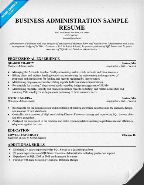 Administration Resume Sample Costumepartyrun