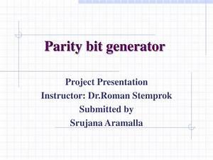 Ppt - Parity Bit Generator Powerpoint Presentation
