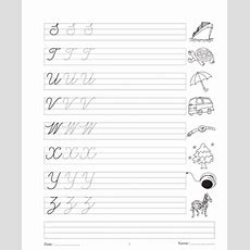 Cursive Writing Book 3 Printable Coloring Worksheet
