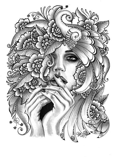 54 best Drawings images on Pinterest | Adult coloring, Coloring for adults and Coloring pages