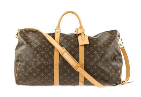 louis vuitton keepall bandouliere  monogram brown coated