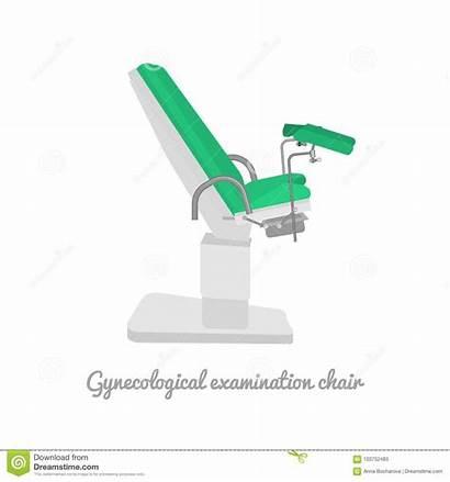 Gynecological Gynecology Examination Cartoons Illustration Medical Chair