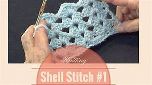 Crochet Shell Stitch  1  Open Shell Lace Stitch Pattern