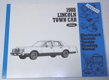 car engine repair manual 1988 lincoln town car engine control 1958 to 1988 lincoln automotive manuals