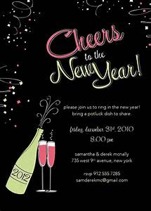 28 new year invitation templates free word pdf psd for New year invite templates free