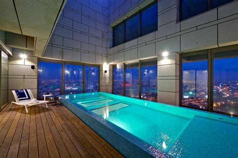 stunning penthouse  private rooftop swimming pool idesignarch interior design