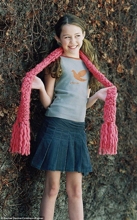 Miley Cyrus Modelling Shoot When She Was 11 Year Old Girl