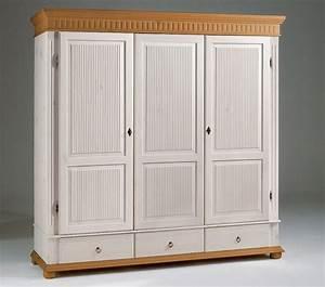 Kleiderschrank Antik Weiß : kleiderschrank 3 t rig wei antik kiefer massiv poarta ~ Frokenaadalensverden.com Haus und Dekorationen