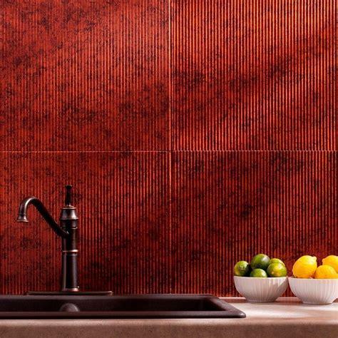 Fasade 24 in. x 18 in. Rib PVC Decorative Backsplash Panel