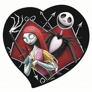 Nightmare Before Christmas Jack & Sally in Heart Magnet ...
