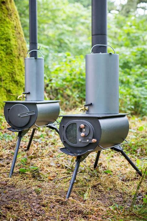 portable foldable woodstove  heats  tents yurts