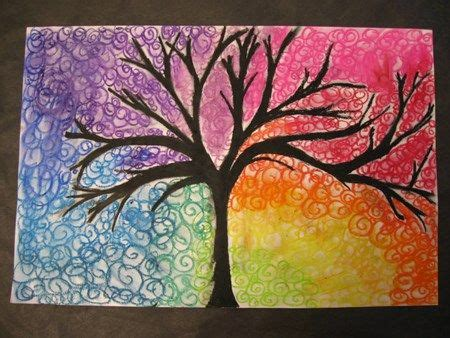 color wheel tree color wheel trees lessons middle school