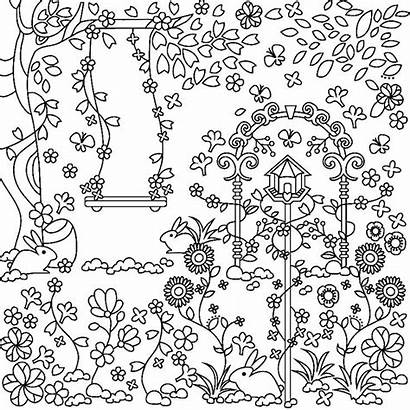 Coloring Pages Garden Adults Spring Adult Flower