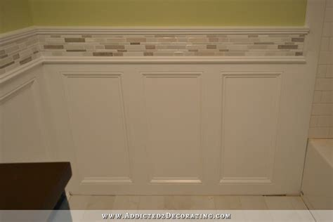 Finished Recessed Panel Wainscoting (Judges Paneling) With