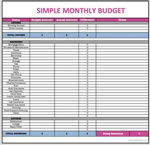 Monthly Budget Excel Spreadsheet Monthly Budget Spreadsheet Frugal Fanatic Shop