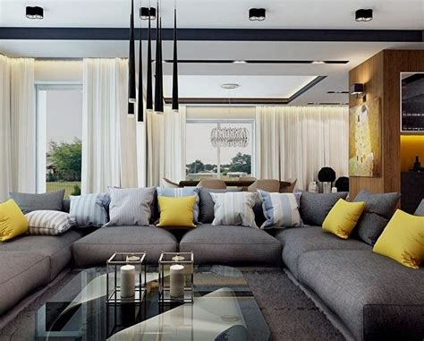 coussin canape canapé gris moderne 55 modèles d angle ou droits foncés