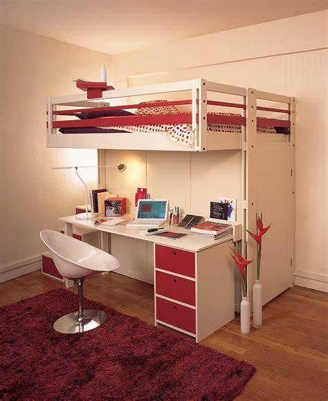 lit mezzanine 2 places avec bureau lits mezzanines attique
