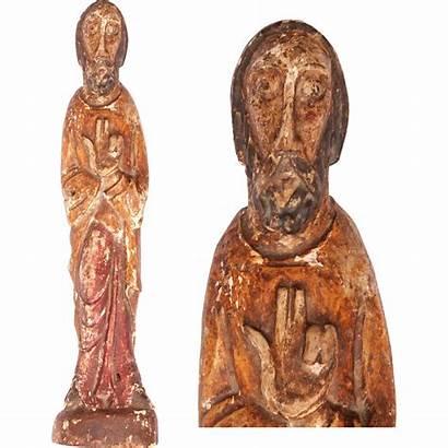 Century 15th 14th Wood Sculpture Jesus Gothic