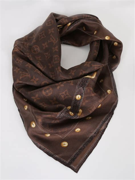 louis vuitton denim brown silk scarf luxury bags