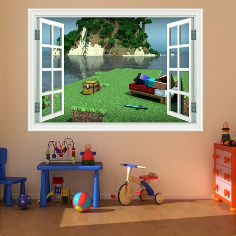 Minecraft Wall Decals For Living Room  Modern Home Design