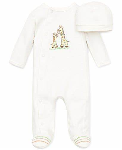 Newborn Clothes Sleeper Clothing Unisex Giraffe Footie