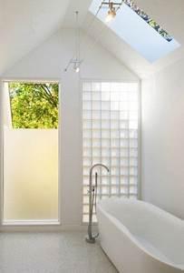 brique de verre lumineuse best salle de bain douche With good electricite a la maison 10 pose de briques de verre