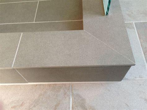 mitre   corner  shower curb tile details