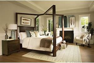 Tesla California King Canopy W/Storage Bed - Living Spaces
