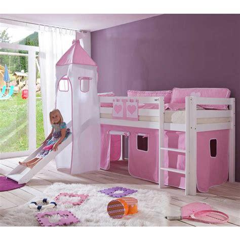 Kinderzimmer Mädchen Mit Rutsche by M 228 Dchen Kinderbett Lina Mit Rutsche In Rosa Wei 223 Pharao24 De