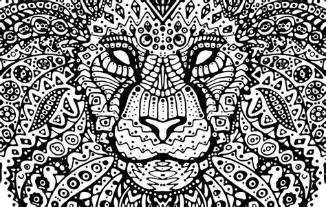 lion mandala  behance