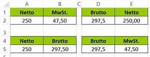 Mehrwertsteuer Berechnen Excel : excel prozent prozentrechnung mit beispielen einfach erkl rt ~ Themetempest.com Abrechnung