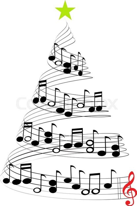 A Christmas Tree Of Musical Notes Symbolizing Christmas