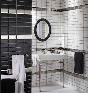 Carrelage Salle De Bain Noir Et Blanc : carrelage de salle de bain noir et blanc ~ Dallasstarsshop.com Idées de Décoration