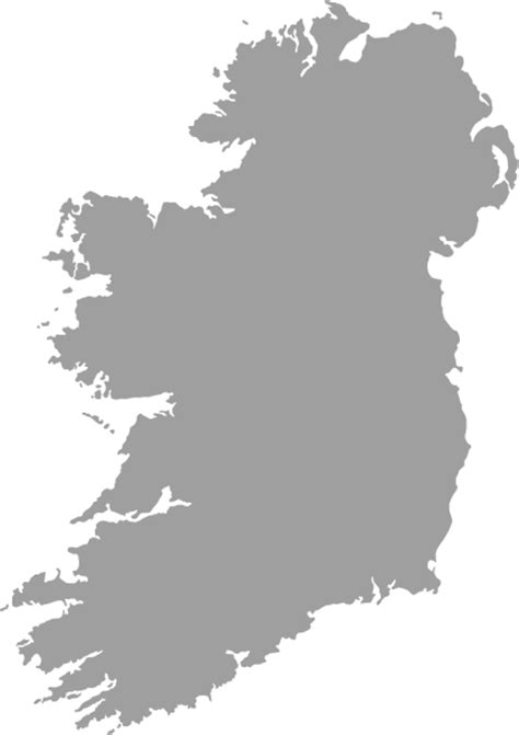 grey filled map  ireland  outline clip art  clker