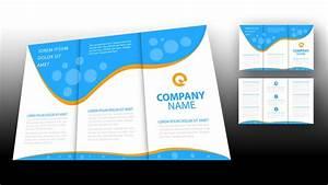 illustrator tutorial brochure design template youtube With pamphlet template illustrator