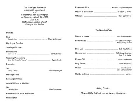 Free Templates For Church Programs by 6 Best Images Of Free Printable Church Program Template