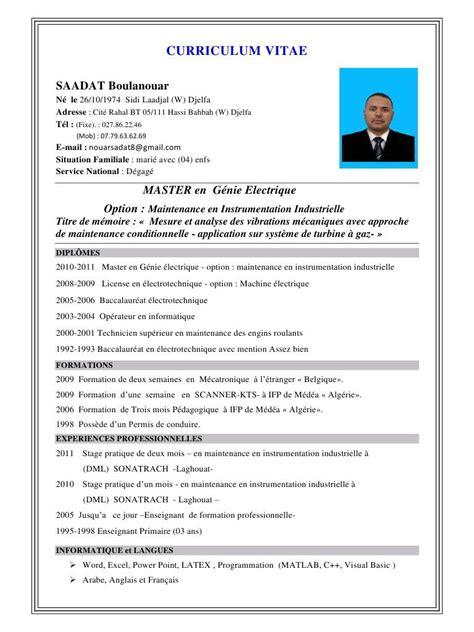 Exemple Pour Cv by Afficher L Image D Origine Cv Exemple Cv Word Exemple