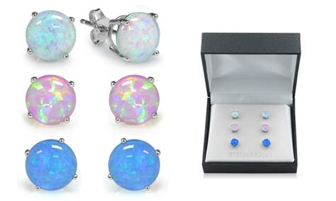 Up To 80% Off on Sterling Silver Opal Earrings