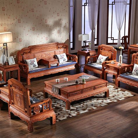 Solid Wood Sofa Set by Solid Wood Sofa Set China Antique Design Solid Wood Sofa