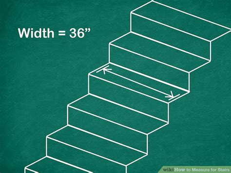 measure  stairs wikihow