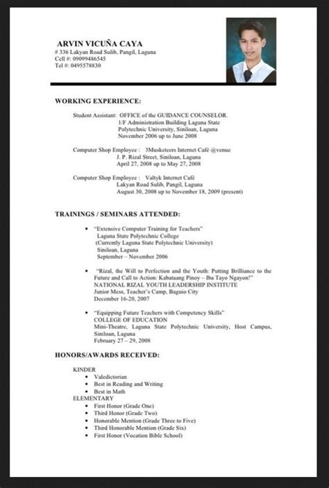 Chronological Resume Of A Fresh Graduate by Resume Sle For Fresh Graduate Information Technology