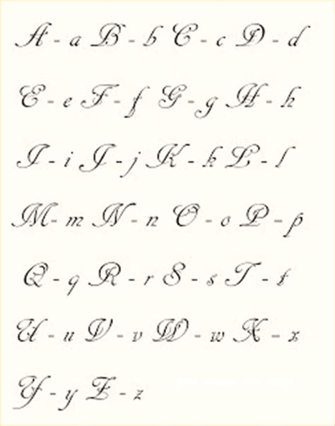 disenos de letras cursivas tatuajes sencillas calligraphy calligraphy alphabet