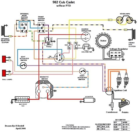 cub cadet wiring diagram lt