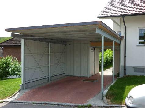 Carport Aus Verzinktem Stahl Mit Trapezblech Dach Und